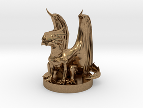 Copper Dragon Wyrmling in Natural Brass