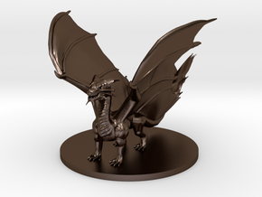 Young Copper Dragon in Polished Bronze Steel