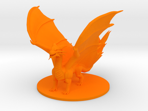 Adult Copper Dragon in Orange Processed Versatile Plastic