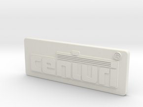 Centuri Coin Door Tag (shelled on backside) in White Natural Versatile Plastic