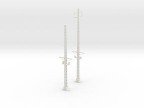 Tapered lattice cat pole span NPHL in White Natural Versatile Plastic