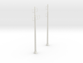 tapered lattice cat pole span_2PHASE_2-3PHASE in White Strong & Flexible