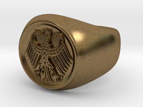 German Eagle Ring in Natural Bronze
