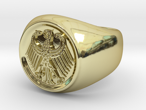 German Eagle Ring in 18K Gold Plated