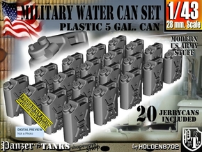 1/43 Military Water Can Set301 in Smooth Fine Detail Plastic