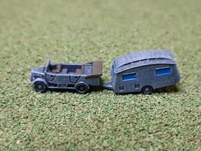German Mercedes L1500A Truck & Caravan 1/285 in Smooth Fine Detail Plastic