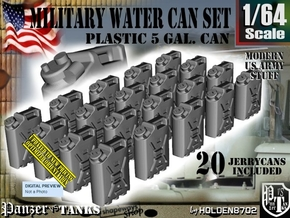 1/64 Military Water Can Set301 in Smooth Fine Detail Plastic