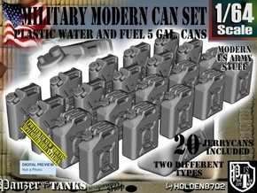 1/64 Military Fuel+Water Can Set401 in Smooth Fine Detail Plastic
