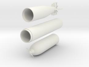 1/11 DKM G7 torpedo (21 in) in White Natural Versatile Plastic