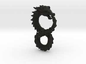 Ouroboros Pendant (Altered Carbon) in Black Premium Versatile Plastic