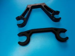 ATG Low Rail Mount in Black Natural Versatile Plastic