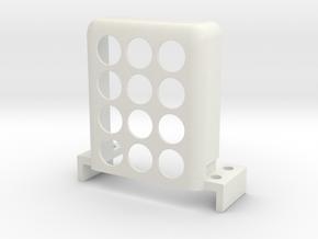 Steering-servo-carrier in White Natural Versatile Plastic