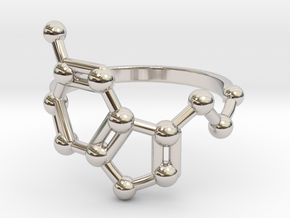 Serotonin (Happiness) Molecule Ring in Platinum: 6.5 / 52.75
