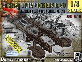 1/8 Twin Vickers K GO in Smooth Fine Detail Plastic