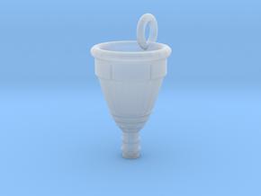 Menstrual Cup Pendant medium in Smooth Fine Detail Plastic