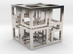Perfect Cubed Cube Frame 41-20-1 in Platinum