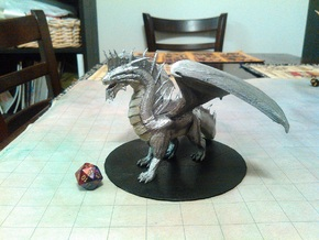 Ancient Silver Dragon in White Natural Versatile Plastic