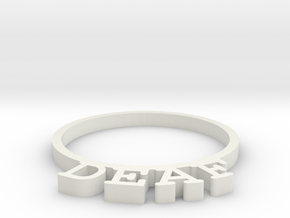 D&D Condition Ring, Deaf in White Natural Versatile Plastic