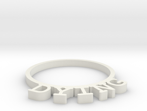 D&D Condition Ring, Dying in White Natural Versatile Plastic