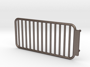 Light protection guard for bumper 1:14 Mercedes SK in Polished Bronzed Silver Steel