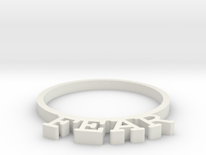 D&D Condition Ring, Fear in White Natural Versatile Plastic