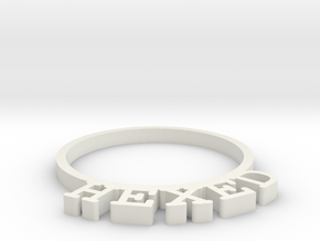 D&D Condition Ring, Hexed in White Natural Versatile Plastic