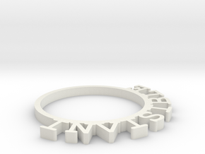 D&D Condition Ring, Invisible in White Natural Versatile Plastic