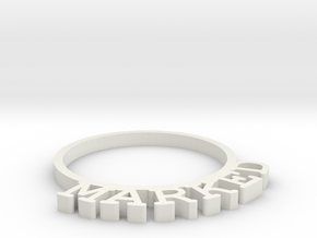 D&D Condition Ring, Marked in White Natural Versatile Plastic