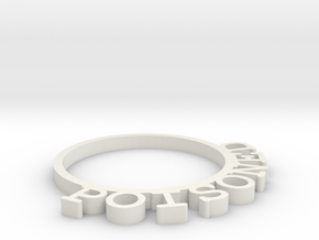 D&D Condition Ring, Poisoned in White Natural Versatile Plastic