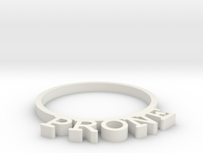 D&D Condition Ring, Prone in White Strong & Flexible