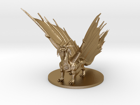 Young Gold Dragon in Polished Gold Steel
