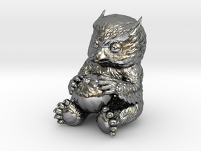 Owlbear Cub in Polished Silver: 15mm