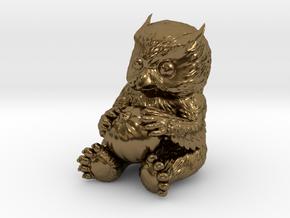 Owlbear Cub in Polished Bronze: 15mm