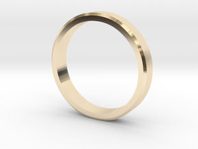 Edged wedding band (various sizes) in 14K Yellow Gold: 5 / 49
