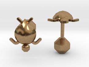 Tortuga Cufflinks in Natural Brass
