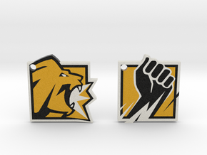 Lion and Finka Charms (Rainbow 6 Siege) in Full Color Sandstone