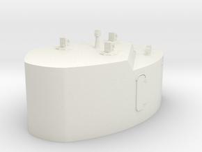 1/144 DKM Bismarck Cabin 7m Rangefinder in White Natural Versatile Plastic