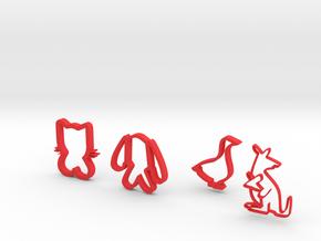 little friends in Red Processed Versatile Plastic