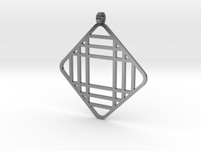 Grid 1 - Pendant in Polished Silver
