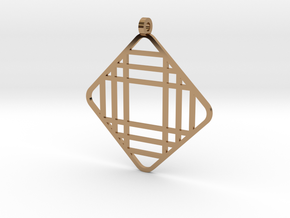 Grid 1 - Pendant in Polished Brass
