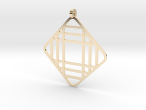 Grid 1 - Pendant in 14k Gold Plated Brass