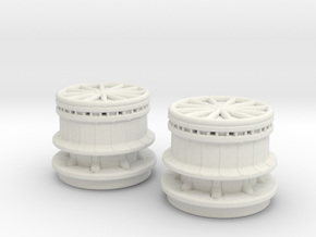 1/144 DKM Capstan Set x2 in White Natural Versatile Plastic