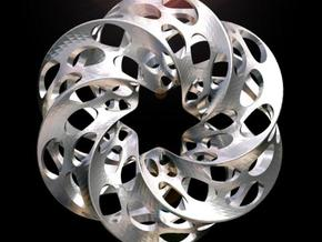 Mobius Square with Circles in White Strong & Flexible Polished
