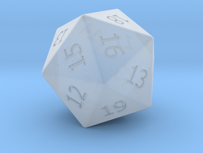 Lucky D20 in Smoothest Fine Detail Plastic