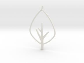 Tree - Pendant in White Natural Versatile Plastic
