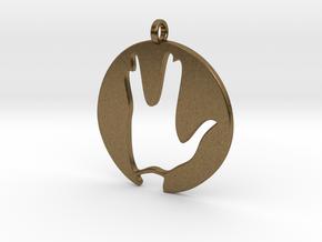 Hi spock - Vulcan salute in Natural Bronze