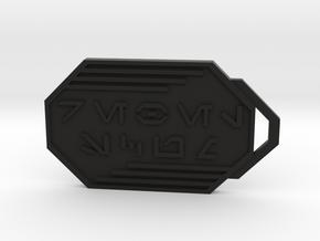 Rebel Scum Keychain in Black Natural Versatile Plastic