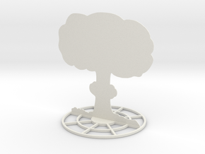 Mushroom Cloud Explosion Marker Template in White Natural Versatile Plastic