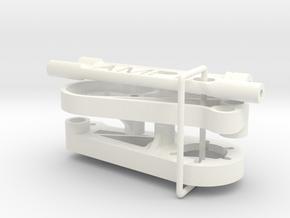 045009-01 AMPro Hornet Lower Rear Suspension Mount in White Processed Versatile Plastic