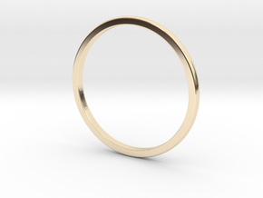 Thin domed ring (various sizes) in 14K Yellow Gold: 3 / 44